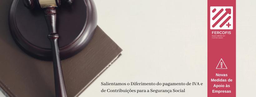 pagamento de IVA e contribuições à Segurança Social